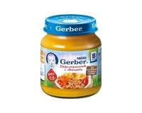 Gerber Пюре бефстроганов с овощами с 8 мес. 125 г.