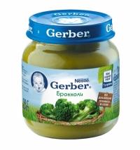 Gerber Пюре брокколи  с 4 месяцев 130г.