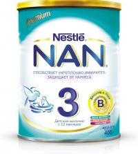 НАН 3  Детское молочко с бифидо- и лактобактериями, с 12 месяцев, 400 г