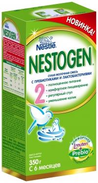 Nestogen 2 Сухая адаптированная молочная смесь быстрого приготовления с пребиотиками и лактобактериями для детей с 6 месяцев, 350 г.