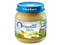 Gerber Пюре яблоко, кабачок с 6 месяцев 130 мл