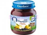Gerber Пюре яблоко, черника c 6 месяцев 130 мл