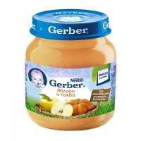 Gerber Пюре яблоко, тыква c 6 месяцев 130 мл