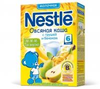 Nestle Молочная овсяная каша с грушей и бананом, 250г