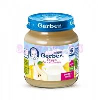 Gerber Фруктово-молочное пюре из груши со сливками с 6 месяцев, 125 г
