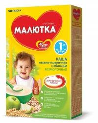 Каша Малютка безмолочная овсяно-пшеничная с яблоком  с 5-ти месяцев 220г.