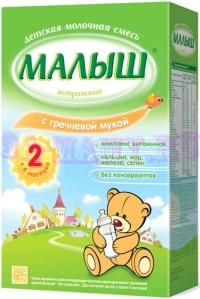 Молочноая смесь Малыш Истринский с гречневой мукой с 6-и месяцев, 350г.