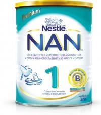 НАН 1 Сухая адаптированная молочная смесь  с рождения, 400 г