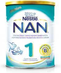 НАН 1 Сухая адаптированная молочная смесь с рождения, 800 г
