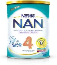 НАН 4 Детское молочко с бифидо- и лактобактериями, с 18 месяцев, 400 г