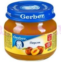 Gerber Пюре персик с 4 месяцев 130 мл
