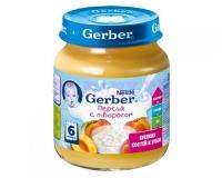 Gerber Пюре персик с творогом с 6 месяцев, 125 г