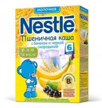 Nestle Каша сухая молочная пшеница банан черная смородина c 6 месяцев  250 г