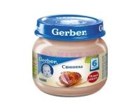 Gerber Пюре свинина c 6 месяцев 80г.