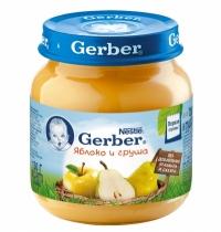 Gerber Пюре яблоко, груша с 5 месяцев 130 мл