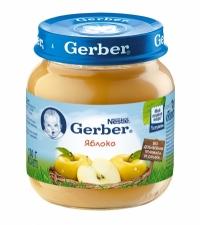 Gerber Пюре яблоко c 4 месяцев 130 мл