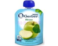 Gerber Пюре яблоко  с 4 месяцев, 90 г